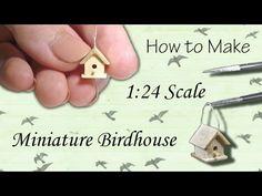Miniature Birdhouse Tutorial | Dollhouse | How to Make 1:24 Scale DIY - YouTube
