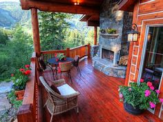 Mountain views from the front deck.