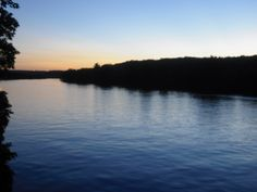 Lake Austin at dusk from the boat house top deck