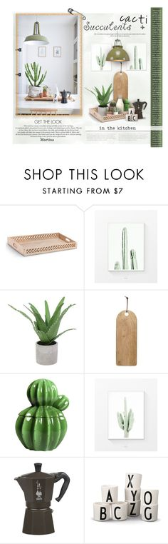 """Cacti + Succulents"" by thewondersoffashion ❤ liked on Polyvore featuring interior, interiors, interior design, home, home decor, interior decorating, Mela Loves London, Threshold, Bialetti and Original BTC"