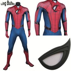 Ling Bultez High Quality New Captain America Spiderman Cosplay Costume Civil War Spider Man Suit Tom Holland Spiderman Costume >>Click-picture-for-details<< Cosplay Spiderman, Spiderman Suits, Superhero Cosplay, Mysterio Spiderman, Tom Spiderman, Amazing Spiderman, Tom Holland, Costume Spider-man, Cosplay Costumes