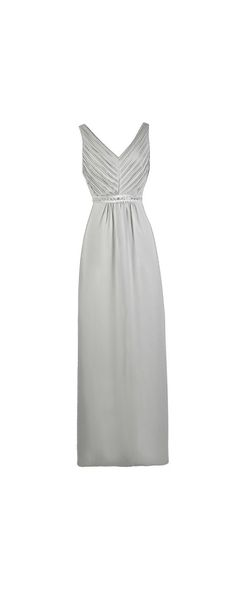 Lily Boutique Always A Bridesmaid Embellished Maxi Dress in Grey, $74 Grey Maxi Bridesmaid Dress, Cute Grey Dress, Grey Prom Dress www.lilyboutique.com