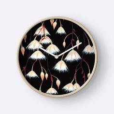 """Elaeocarpus, acrylic art"" Clocks by ptitsa-tsatsa | Redbubble"