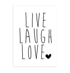 Dot's Lifestyle Poster Live, laugh, love