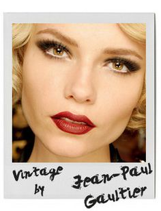 vintage make up, like that the lips are red, but a little bit darker :)
