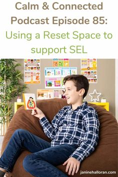 This week's episode is all about using a reset space to support social and emotional development in the classroom. We're approaching a new school year in this shifting, changing landscape of dealing with the pandemic and I've been thinking about the best way to support our kids through that. Now the Elementary School Counselor, School Counseling, Elementary Schools, New School Year, School Fun, How To Handle Stress, Guidance Lessons, Different Emotions, Student Success