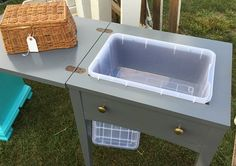 Who knew that an old sewing machine table would make a great mini bar? Check out this roadkill rescue transformation!