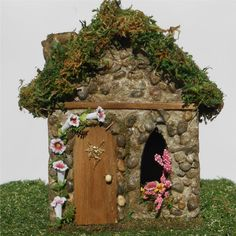 Morning Glory Fairy House for Fairy Garden and by enchantedgardens
