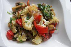 Gemüsepfanne mit Rucola - Vegan einfach