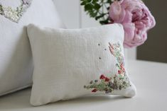 Learn hand embroidery, shop for haberdashery and antique linens. Join us on a creative retreat. Embroidery Patterns, Hand Embroidery, Lavender Sachets, Haberdashery, Fiber Art, Needlework, Textiles, Throw Pillows, Stitch