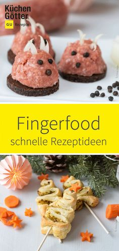Last-Minute-Rezepte: 10 schnell gemachte Partysnacks & Fingerfood Hungry guests? Not with us. Curtain up for our little snacks and finger food recipes that can be prepared quickly and are still really tasty. Party Finger Foods, Snacks Für Party, Finger Food Appetizers, Appetizer Recipes, Brunch Buffet, Party Buffet, German Appetizers, Nutrition, Catering