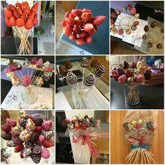 Sweet boquet for my finally full-grown friend made of strawberries dipped in chocolate. :-) / Sladký pugét pro mou konečně dospělou kamarádku vyrobený z jahod v čokoládě. :-)