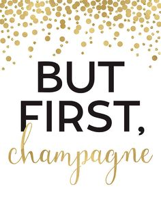 But First Champagne Print Kitchen Decor Kitchen by EllenPrintable