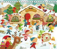 Cherche et Trouve Noël - le what's up de Charlie Pop Dream Illustration, Winter Illustration, Yoga Jobs, Theme Noel, Picture Description, Illustrations, Holiday, Christmas, Santa