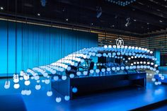 KINETIC LIGHTS was invited by ICT Innovative Communication Technologies to create a gigantic, high resolution ELECTRIC SKY kinetic installation composed of 500 Winch XS and Sphere XS 17 for ZF's trade fair stand designed by OSK at IAA (International Car Exhibition) in Frankfurt.