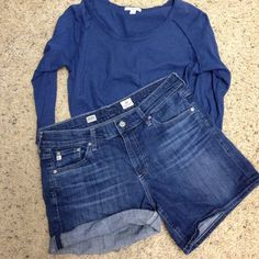 AG Hailey Ex-Boyfriend shorts Super comfy and cute roll up denim shorts. Excellent condition ! AG Adriano Goldschmied Shorts Jean Shorts