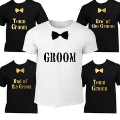 2361b3c41 Buy personalized t-shirts for your wedding party. Any best man, groomsmen,