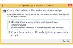 Comprobar la RAM en Windows 8 u 8.1