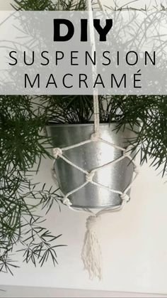 DIY suspension macramé pour plantes