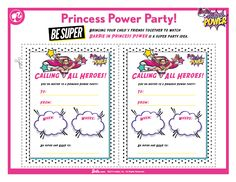 Barbie Princess Power Party