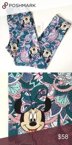 Lularoe Minnie Disney OS Leggings NWT🌼 Super cute paisley Minnie! Comes from the first  Disney collection.. NWT. Never been worn or washed. One size fits 2-10 comfortably. Best offer accepted. Not a consultant. Pls. check my listing for more Disney and Unicorns!🦄🎉 LuLaRoe Other