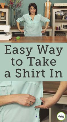 Taking in a shirt doesn't have to be a lengthy process. Aurora Sisneros shows you a quick and easy way to take in a shirt by yourself without having to use a dress form.