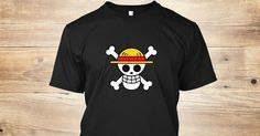 Discover Luffy Skull   One Piece T-Shirt from The Anime Animal, a custom product made just for you by Teespring. With world-class production and customer support, your satisfaction is guaranteed.