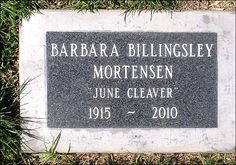 "ACTRESS BARBARA BILLINGLEY'S GRAVE  (""June Cleaver"" on ""Leave it to Beaver"") at Woodlawn Memorial Cemetery  in Santa Monica, California"