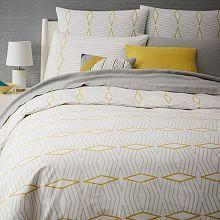 Diamond Stripe Bedroom | west elm
