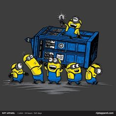 The Minions Have The Phone Box T-Shirt | $10 Despicable Me and Doctor Who mashup tee at RIPT today only!