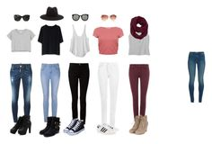 """Outfits school 5 days"" by catherine-rebeca on Polyvore featuring Monki, Chicwish, RVCA, Miss Selfridge, Ally Fashion, T By Alexander Wang, J Brand, 7 For All Mankind, Dsquared2 and WearAll"