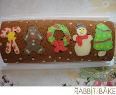 Christmas theme swiss roll - assorted joy in a roll