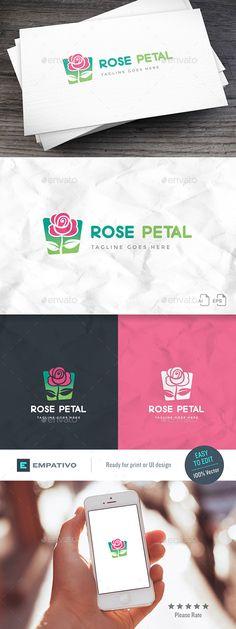 Rose Petal Logo Template - Nature Logo Templates Download here : https://graphicriver.net/item/rose-petal-logo-template/19970485?s_rank=188&ref=Al-fatih