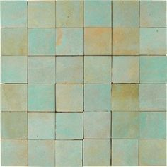 Mosaïque mur Zellige vert 5 x 5 cm | Leroy Merlin