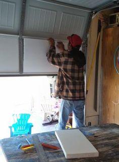 Insulation for garage door