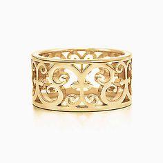 Anillo ancho Tiffany Enchant™de oro de 18k.