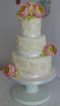"""Pastel de boda realizado en el curso """"Tartas de Boda"""" de Cakes Haute Couture"""