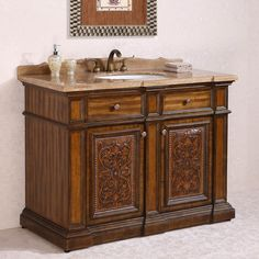 52 Inch Double Bathroom Vanity. See More. Legion Furniture WH2448 48 In.  Single Bathroom Vanity   WH2448