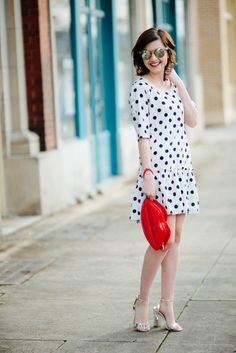 Dots dots dots - not really a drop waist gal, but if this were a natural waisted dress I would be all over it!
