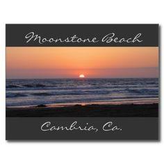 Moonstone Beach Cambria | Moonstone Beach, Cambria,Ca. Post Card from Zazzle.com