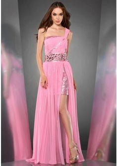 Pink Chiffon Evening/Homecoming Dress