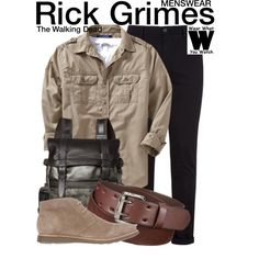 Inspired by Andrew Lincoln as Rick Grimes on The Walking Dead.