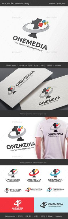 Number One Media	  Logo Design Template Vector #logotype Download it here: http://graphicriver.net/item/number-one-media-logo/9212629?s_rank=25?ref=nexion