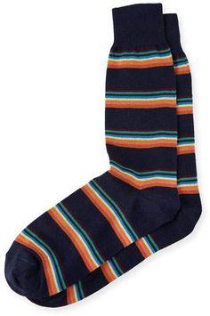 Paul Smith Multicolor Striped Socks, Blue