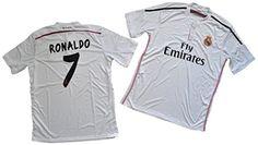 06179fcd1 Amazon.com   2014-2015 Ronaldo  7 Real Madrid Home jerseys Size Sm