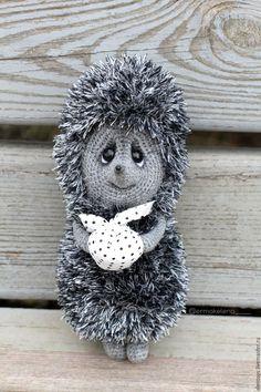 Купить Ёжик в тумане - чёрно-белый, ежики, вязаные ёжики, вязаная игрушка, коллекция, подарок