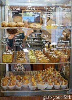 Cakes, cookies, doughnuts and tarts at tivoli road bakery, south yarra bakery design Bakery Decor, Bakery Interior, Pastry Shop Interior, Interior Design, Bakery Store, Bakery Cafe, Pastry Display, Bread Display, Cookie Display