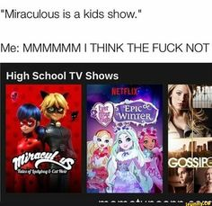 Miraculous is literally the best show to watch while babysitting because I enjoy and so does the kid. And I get paid too
