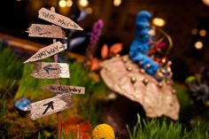 Detail on Cake Table From the Alice in Wonderland Wedding at the Hotel Boulderado (Photo by Frances Photography)