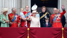 Members of the royal family stand on the balcony of Buckingham Palace during the Trooping the Colour on June 13, in London -- from left, Charles, Prince George; Prince William; Catherine, Queen Elizabeth II;  The ceremony is the British monarch's annual birthday parade and dates back to the time of Charles II in the 17th century, when the colors of a regiment were used as a rallying point in battle. The Queen's actual birthday is April 21.